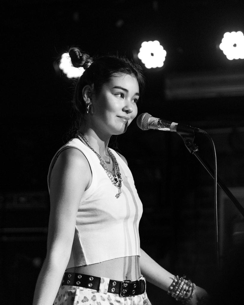 This is a photo of Youtuber and musician Audrey Mika on March 3rd in New York City at Mercury Lounge.