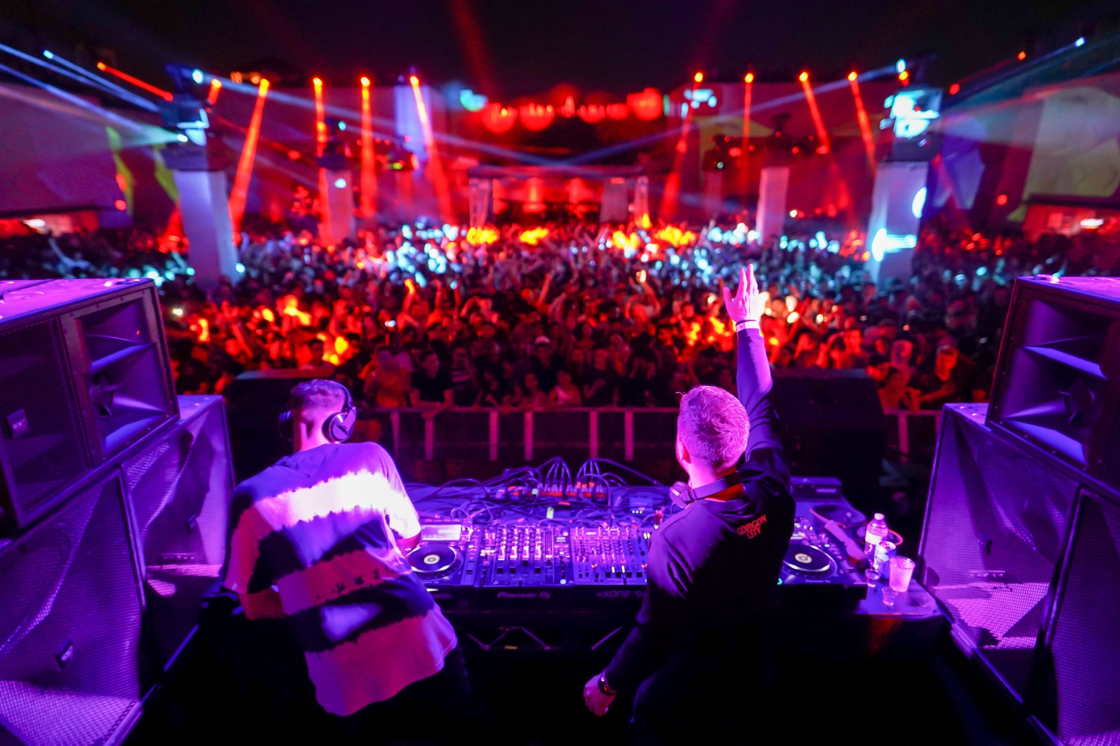This is a photo of Gorgon City playing their REALM show at Brooklyn Mirage.