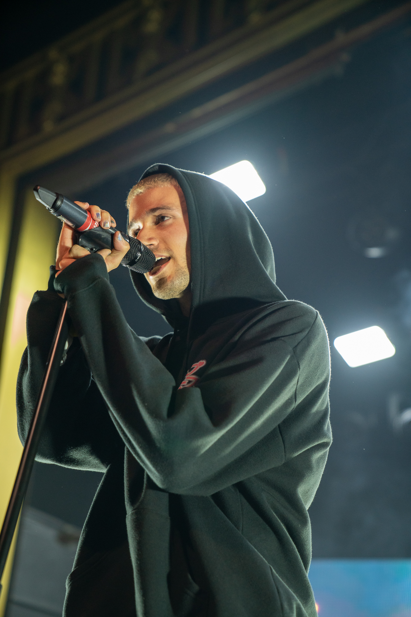 This is a photo of Jeremy Zucker performing at Webster Hall during his fall 2019 US tour.