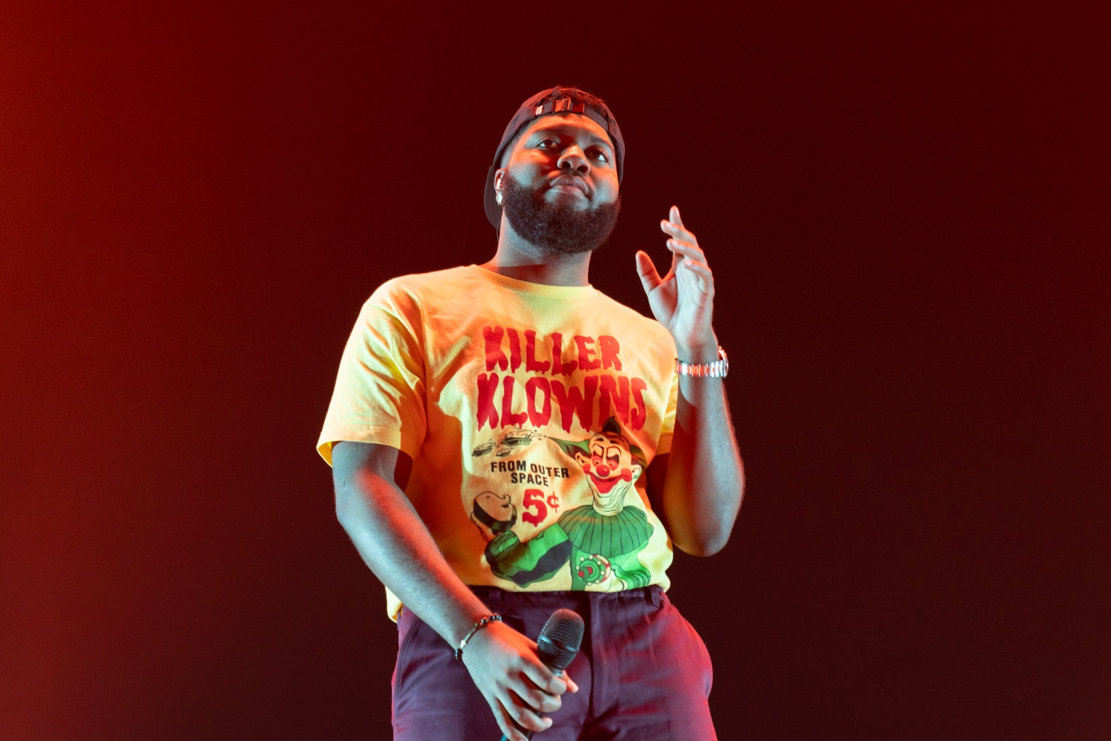This is a photo of Khalid Robinson performing at Madison Square Garden on July 31, 2019 during his Free Spirit Tour.